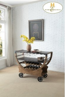 Kitchen Cart with Functional Wheels