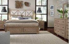 Bridgewater Upholstered Bed w/Storage Footboard, Queen 5/0