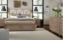Bridgewater Upholstered Bed w/Storage Footboard, Queen 5/0