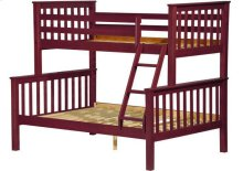 Mission Twin/Full Bunk Bed Mahogany