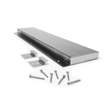 """6"""" Slide-in Range Backsplash, Stainless - Stainless Steel"""