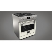 "30"" All Gas Pro Range - Glossy White"