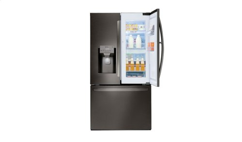 LG Black Stainless Steel Series 28 cu.ft. Capacity 3-Door Refrigerator with Door-in-Door®