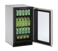 """2000 Series 18"""" Glass Door Refrigerator With Stainless Frame Finish and Field Reversible Door Swing"""