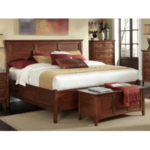 A AmericaQueen Storage Bed