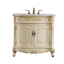 36 in. Single Bathroom Vanity set in light antique beige