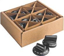 Black knob kit, Pro 24 & Cooktops