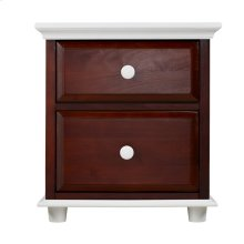 2 Drawer Dresser w/ Crown & Base - Two Tone