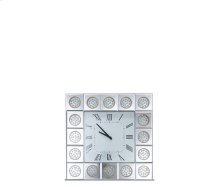 Montreal Square Wall Clock w/Crystal Accents