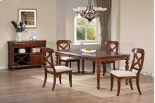 Sunset Trading 5pc Andrews Dining Set in Chestnut Finish - Sunset Trading