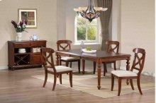 Sunset Trading 5pc Andrews Dining Set in Chestnut Finish - Sunset Trading