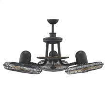 Circulaire Discus 3 Headed Ceiling Fan