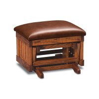Urbandale Glider Ottoman, Leather Cushion Seat Product Image