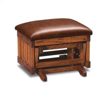 Urbandale Glider Ottoman, Leather Cushion Seat