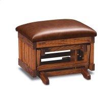Urbandale Glider Ottoman, Leather Cushion Seat