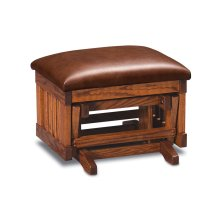 Urbandale Glider Ottoman, Tigers Eye Leather, Oak #26 Michael's