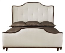 Queen-Sized Miramont Upholstered Panel Bed in Dark Sable (360)