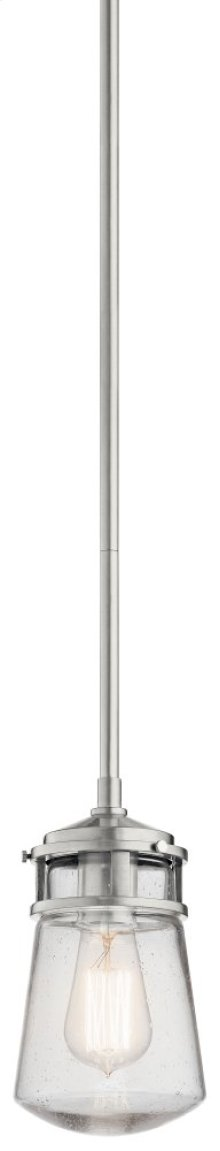 "Lyndon 5"" 1 Light Pendant Brushed Aluminum"