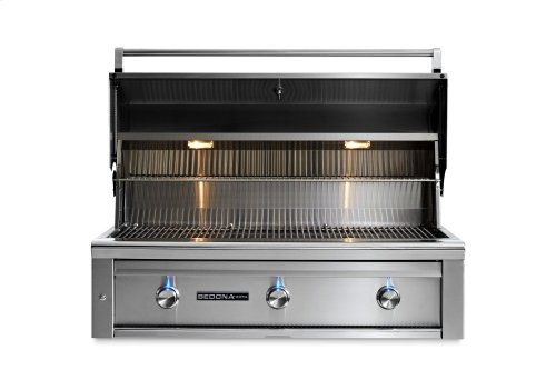 """42"""" Sedona by Lynx Built In Grill with 3 Stainless Steel Burners, NG"""