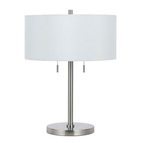 60W X 2 Calais Metal Table Lamp