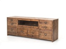 Hughes Media Console-bleached Pine