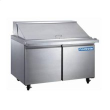 2 Door Stainless Steel Mega Top Sandwich/Salad Prep Table
