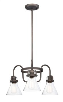 Seafarer 3-Light Chandelier With Bulbs