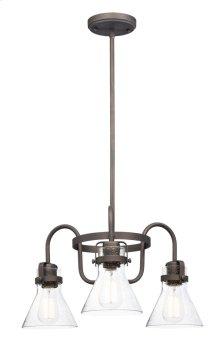 Seafarer 3-Light Chandelier With Bulbs