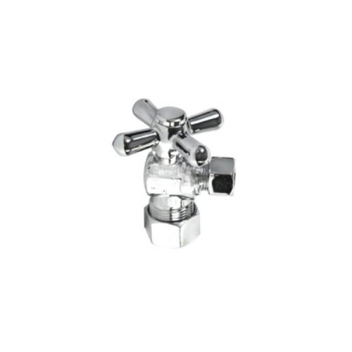 Cross Handle Angle Valve - Satin Gold