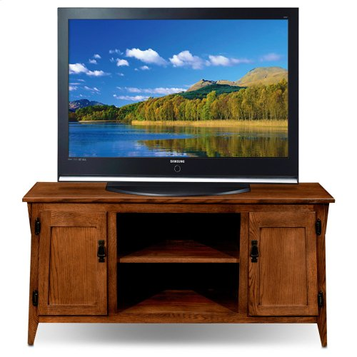 Mission Oak Two Door 50 Tv Console W Open Component Bay 82550
