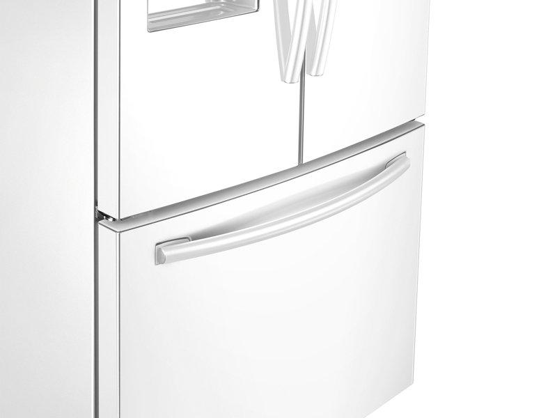 Rf26j7500ww Samsung 26 Cu Ft 3 Door French Door Refrigerator With
