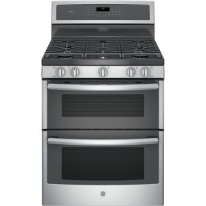 "GE ProfileSeries 30"" Free-Standing Gas Double Oven Convection Range"