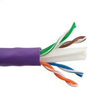 Cat6 Enhanced 550 Mhz 23 Awg Solid Bc, 4pr, Utp, Ansi/tia 568-C.2, Iec 11801 Class E, Ul Cmr, En50575:2014 Eca, Pvc Jkt- Purple- 1000ft/305m Box