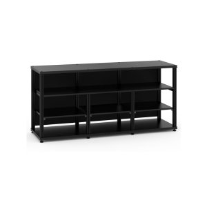 Salamander DesignsSynergy 30 Triple-Width Core Module with Center Opening, Black with Black Posts