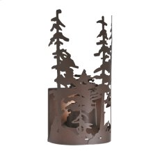 "11""W Tall Pines Wall Sconce"