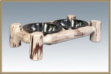 Montana Log Small Pet Feeder