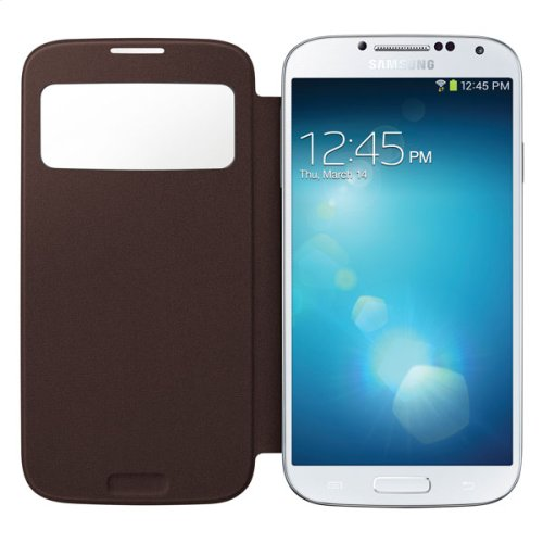Galaxy S 4 S-View Flip Cover, Brown
