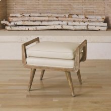 Lucas Short Bench-Beige Leather