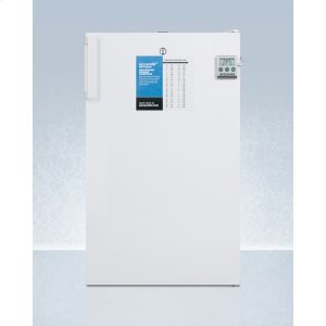 "SummitCommercially Listed 20"" Wide All-freezer for Freestanding Use, Manual Defrost With A Lock and Nist Calibrated Thermometer"