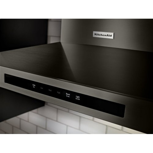"30"" Wall-Mount, 3-Speed Canopy Hood - Black Stainless Steel with PrintShield™ Finish"