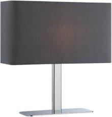 Table Lamp, Chrome/black Fabric Shade, E12 Type G 40w