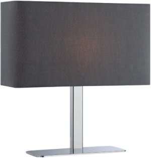 Table Lamp, Chrome/black Fabric Shade, E12 Type G 40w