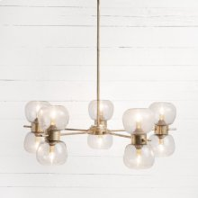 Gold Leaf Finish Pearson Chandelier