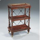 REGENCY FINISHED MAHOGANY GEOR GE IV BOOKCASE, BRASS MOUN TS AND CASTERS Product Image