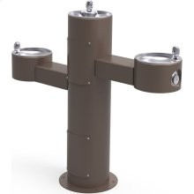 Elkay Outdoor Fountain Tri-Level Pedestal Non-Filtered, Non-Refrigerated Brown
