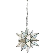 Large Star Chandelier With Antique Mirror.