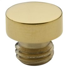Lifetime Polished Brass Button Finial