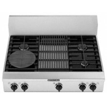 "4 Burners Grille Porcelain-on-Steel Cooktop Architect® Series Gas 36"" Width"