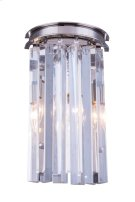 1208 Sydney Collection Wall Lamp Polished Nickel Finish Product Image