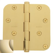 "Lifetime Polished Brass 5/8"" Radius Corner Hinge"